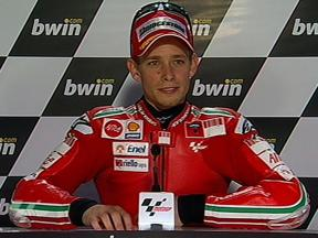 Casey Stoner interview after QP in Jerez