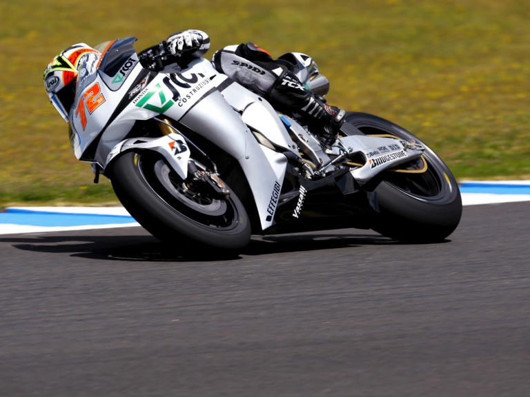 Yuki Takahashi in action in Jerez