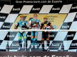 Sergio Gadea, Bradley Smith and Marc Marquez on the Podium at Jerez
