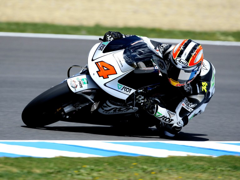Hiroshi Aoyama in action in Jerez