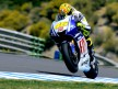 Valentino Rossi in action in Jerez