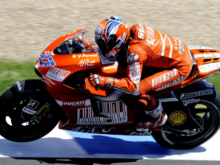 Casey Stoner in action in Jerez