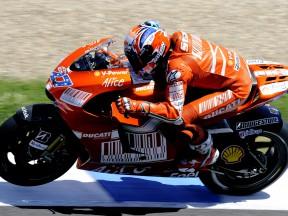 Casey Stoner in action in Jerez