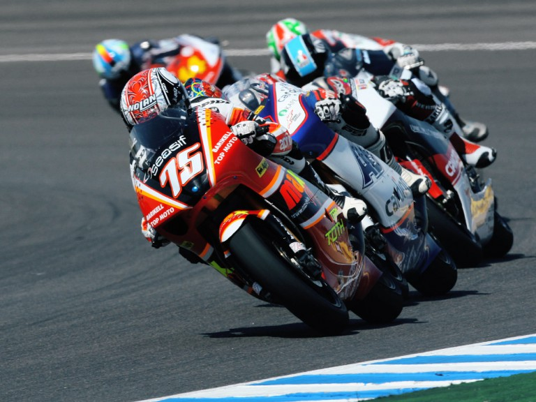 250cc Group in action in Jerez