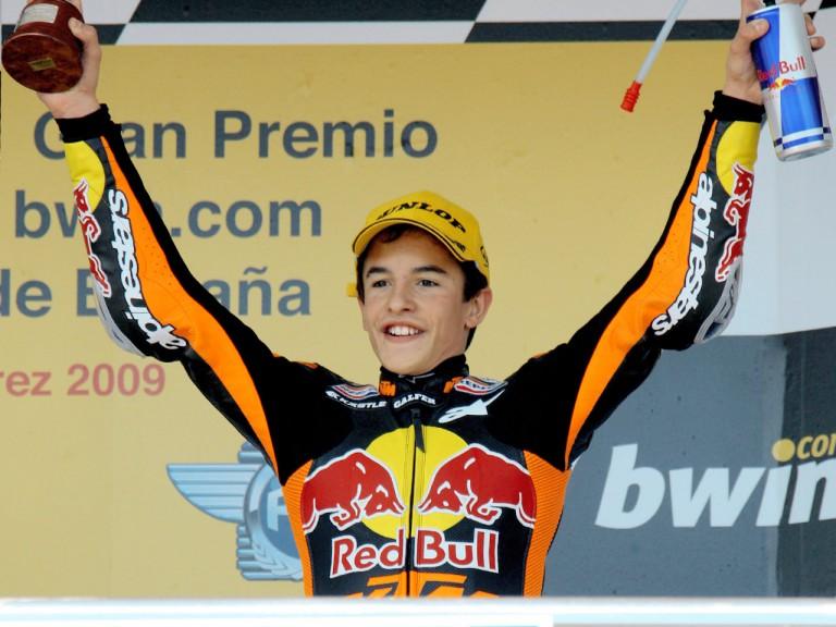 Marc Marquez on the podium at Jerez