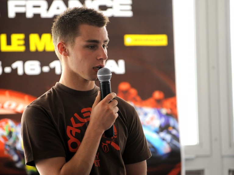 Jules Cluzel at the French GP presentation