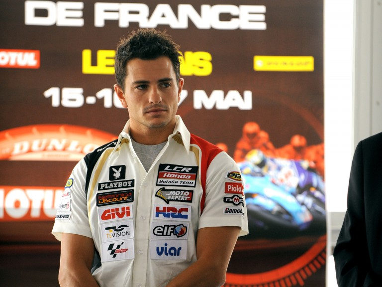Randy de Puniet at the French GP presentation