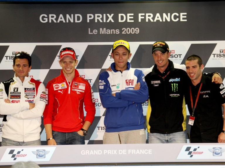 MotoGP Riders at the grand Prix de France Press Conference