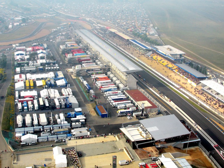 Aerial view of Le Mans Circuit