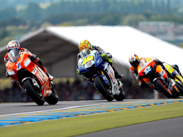 MotoGP Group in action in Le Mans in 2008