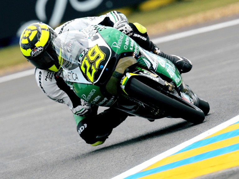 Andrea Iannone in action in Le Mans