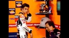 Dani Pedrosa and Alberto Puig in the Repsol Honda garage