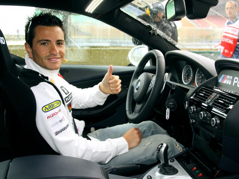 Randy de Puniet in BMW M safety car