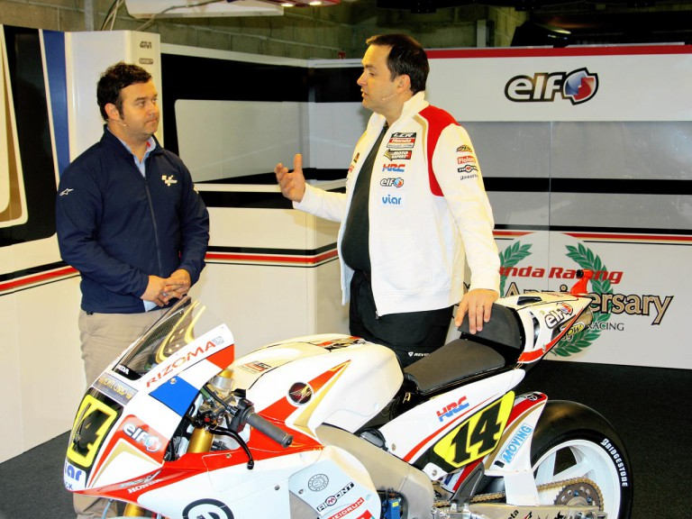 Bourguignon presents De Puniet's Honda RC212V