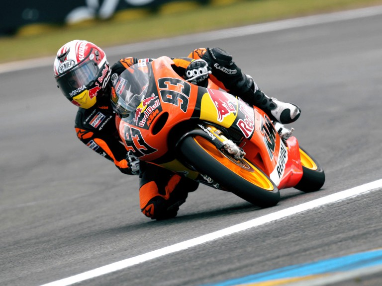 Marc Marquez in action in Le Mans