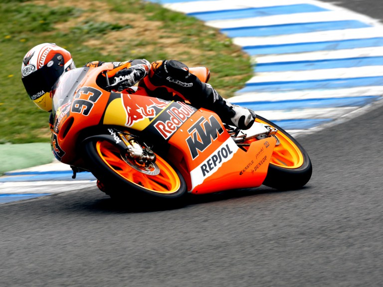 Marc Márquez on track at the Official Test in Jerez