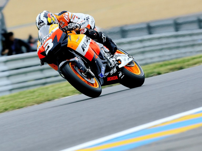 Dani Pedrosa in action in Le Mans