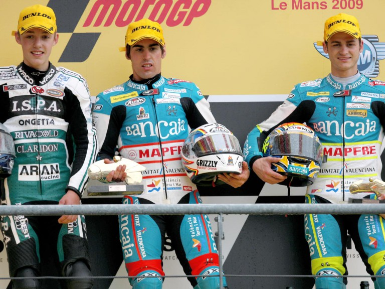 Jonas Folger, Julian Simon and Sergio Gadea on the Podium at Le Mans