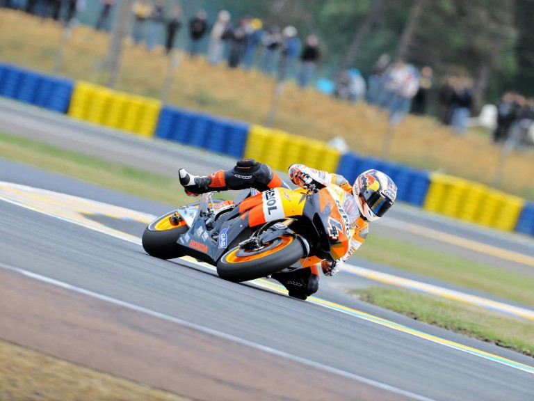 Andrea Dovizioso on track in Le Mans