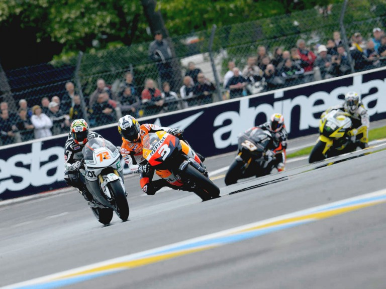 MotoGP Group in action in Le Mans