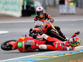 New: Crashes record in Le Mans