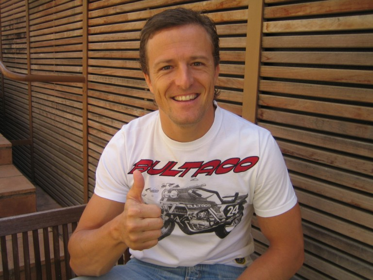 Sete Gibernau recovering from his collarbone injury in Barcelona