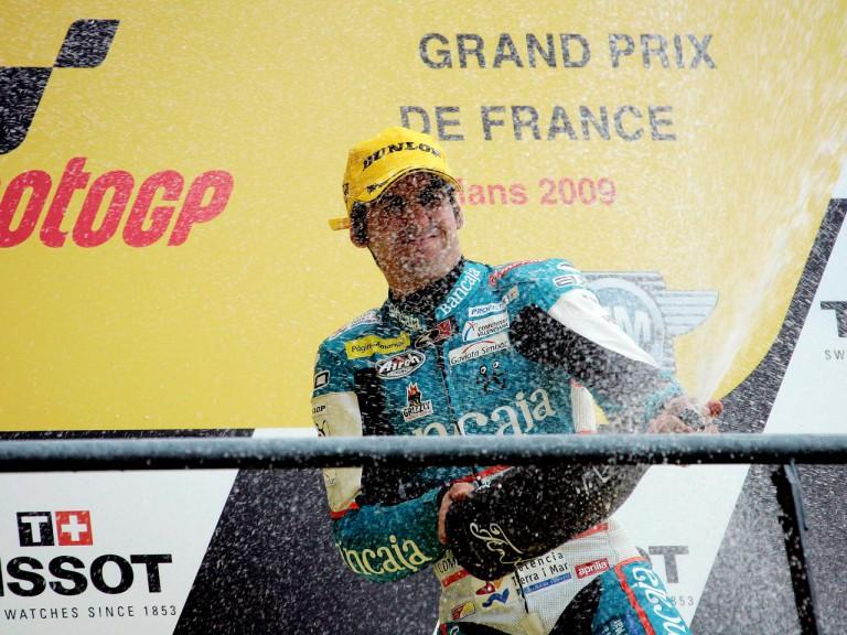 Julian Simon on the podium at Le Mans