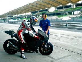 James Toseland in Pit Lane at Sepang test
