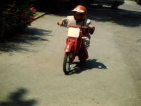 Andrea Dovizioso on his first bike