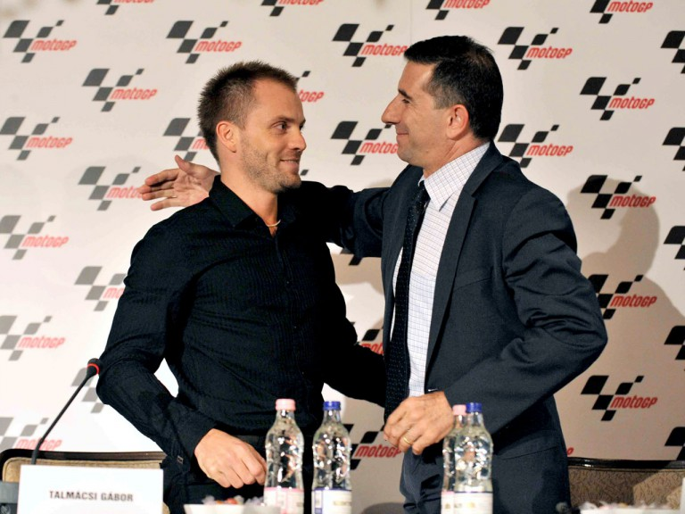 Gabor Talmacsi and Jorge Martínez Aspar during press conference
