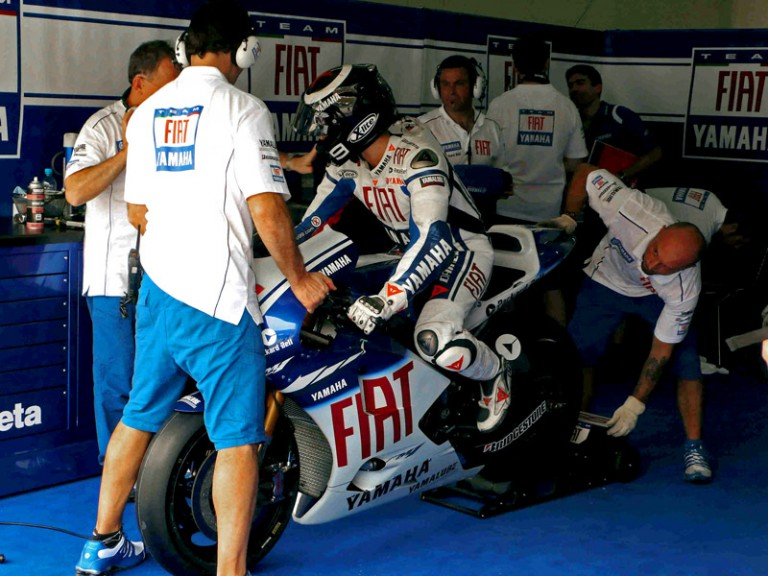 Jorge Lorenzo in Yamaha Garage