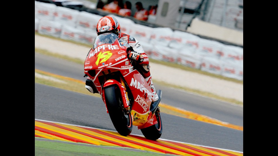 Álvaro Bautista in action in Mugello
