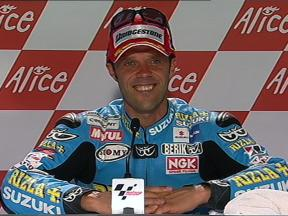 Loris Capirossi interview after QP in Mugello