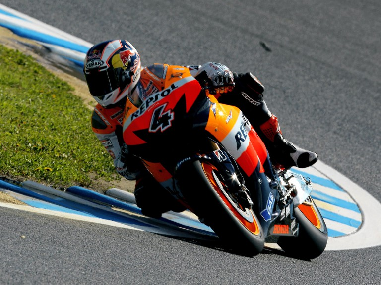 Andrea Dovizioso in action in Motegi