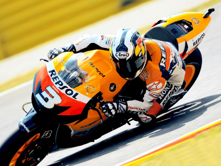 Dani Pedrosa in action in Mugello