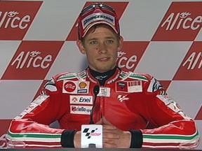 Casey Stoner interview after QP in Mugello