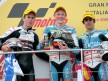 Nico Terol, Bradley Smith and Julian Simon on the podium at Mugello