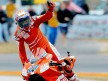 Casey Stoner celebrating victory at Mugello