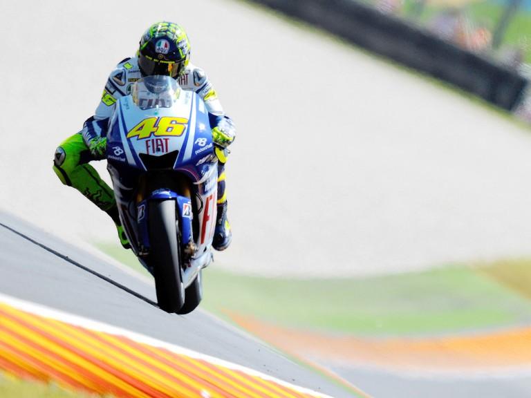 Valentino Rossi in action in Mugello