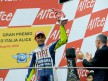 Valentino Rossi on the podium at Mugello