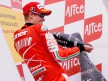 Casey Stoner on the Podium at Mugello