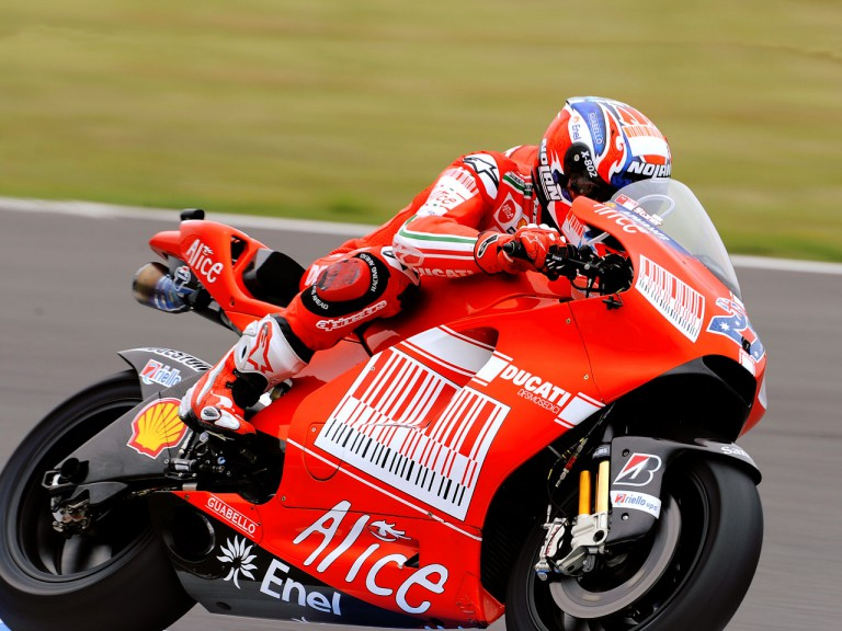 Casey Stoner in action