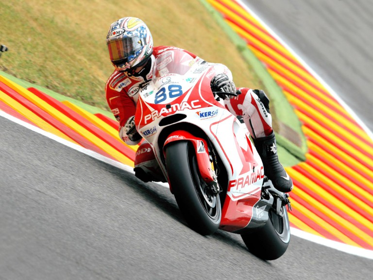 Niccolò Canepa in action in Mugello