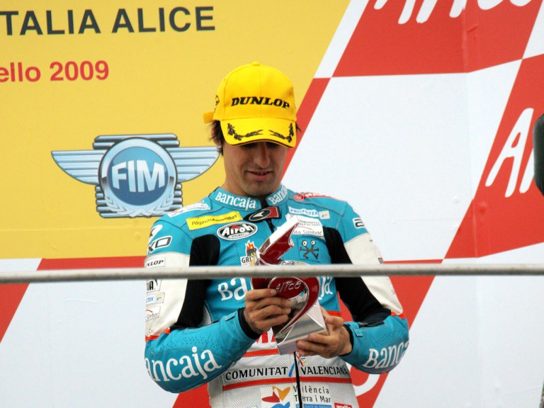 Julian Simon on the podium at Mugello
