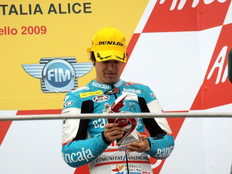 Julian Simon on the podium at Mugello