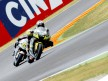 James Toseland and Randy de Puniet in actino in Mugello