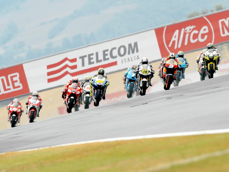 MotoGP grou in action in Mugello