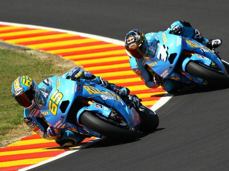 Suzukis´ Capirossi and Vermeulen on track