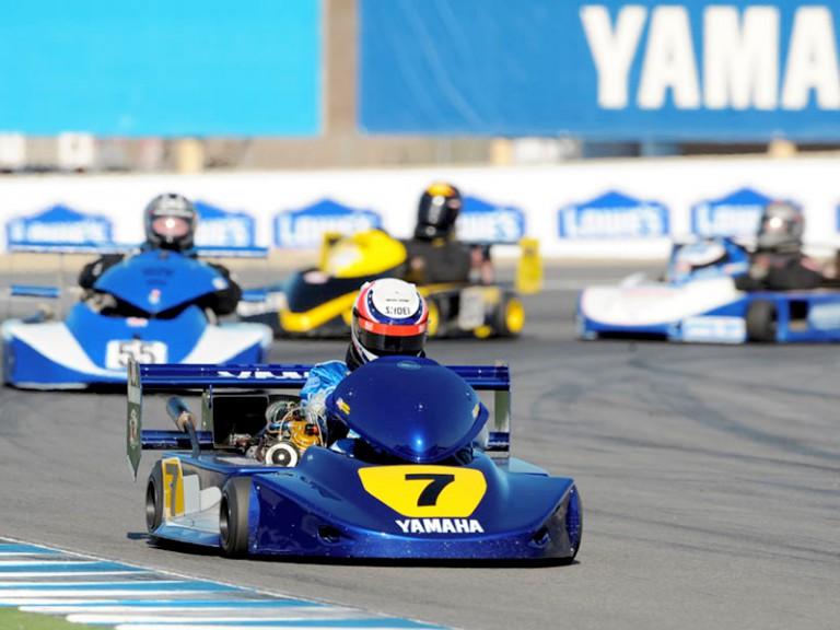 Yamaha Legends at SuperKart exhibition in Laguna Seca