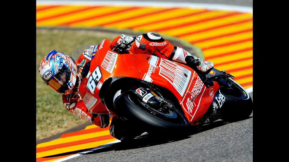 Nicky Hayden in action